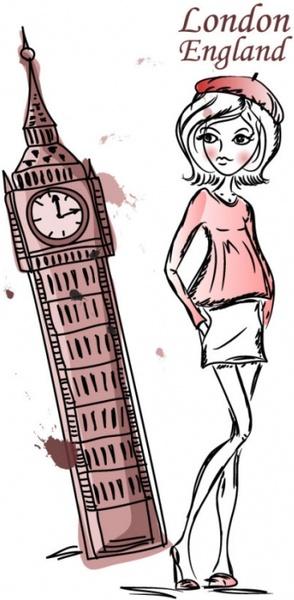 line art illustrator background 03 vector