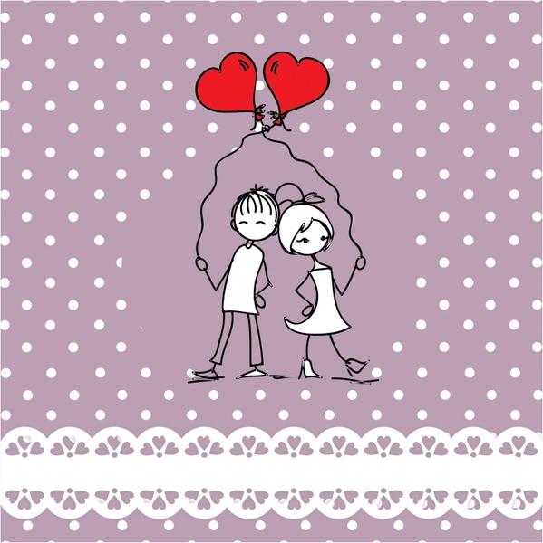 line art painted valentine heart vector