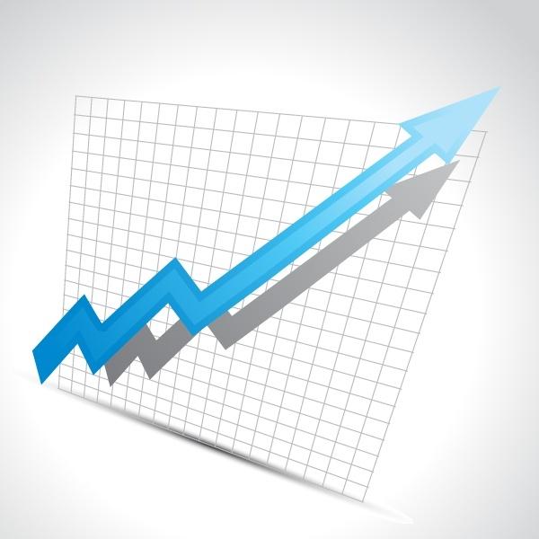 business chart background modern 3d arrow sketch