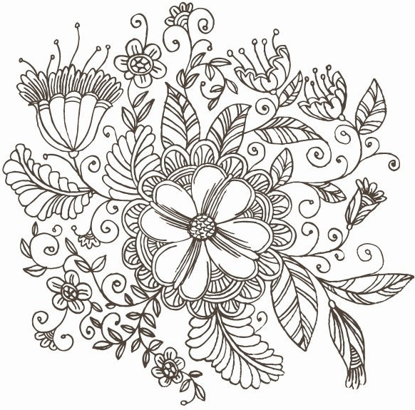 Line Drawing Flowers Blossom : Beach line drawing free vector download