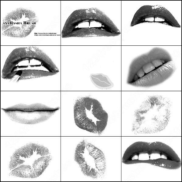 Lips Brush Photoshop Brushes In Photoshop Brushes Abr Abr