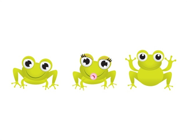 little green frogs vector illustration with funny style free vector rh all free download com Vector The Crocodile Cute Frog Silhouette