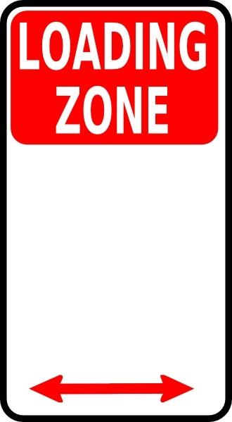 Loading Zone Sign clip art