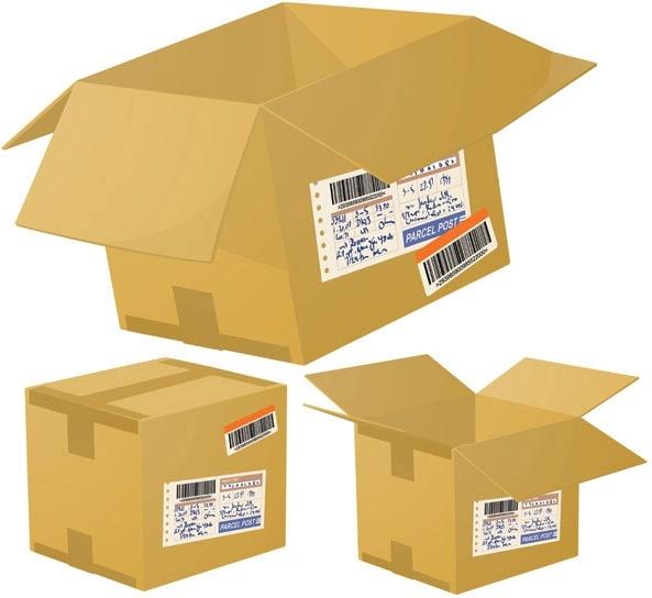 logistics and express special cartons 01 vector