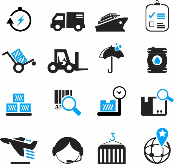 Logistics Calendar Design : Logistics and shipping icons free vector in adobe