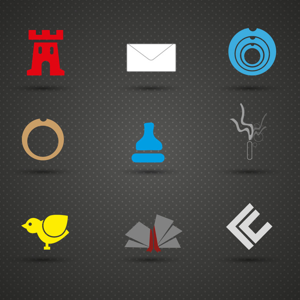 logo design elements illustration on dark background