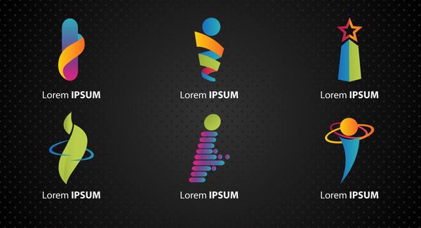 logo design elements with various i letter shapes