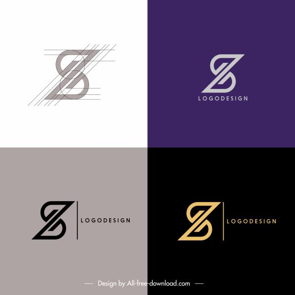 logo templates symmetric z shapes sketch
