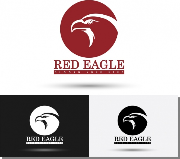Logos templates sketch eagle icon silhouette style Free vector in ...