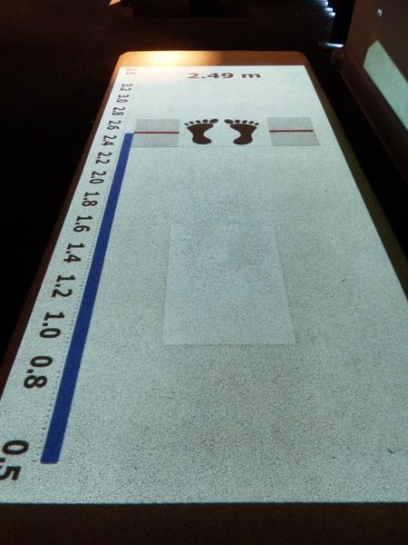 long jump measurement scale