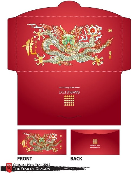 long red envelope template 07 vector free vector in encapsulated