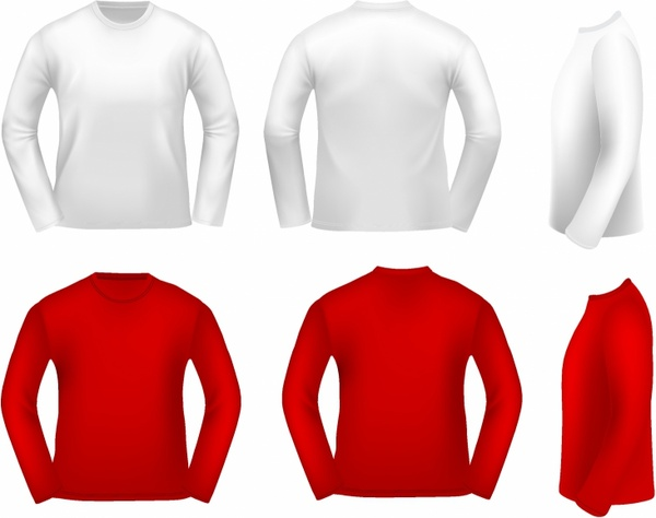 Long Sleeve Shirt Free Vector In Adobe Illustrator Ai