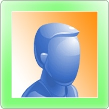 Longhorn man user Icon with green border