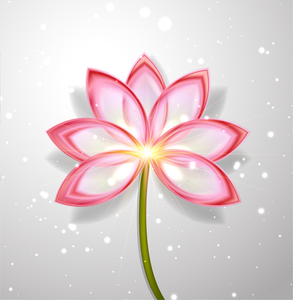 Lotus Flower Abstract Free Vector In Adobe Illustrator Ai