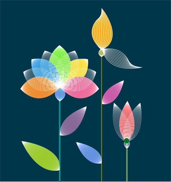 Lotus flower digital concept free vector in adobe illustrator ai lotus flower digital concept mightylinksfo