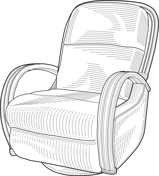 Lounge Chair Clip Art Free Vector In Open Office Drawing Svg Svg