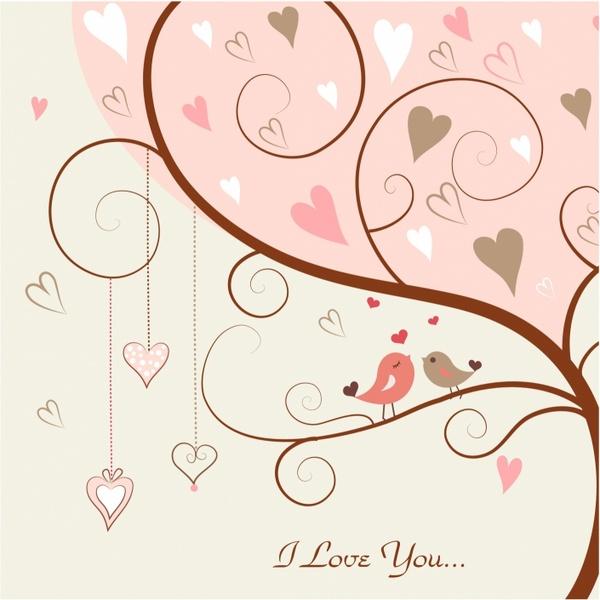 Love bird in the tree Free vector in Adobe Illustrator ai ...