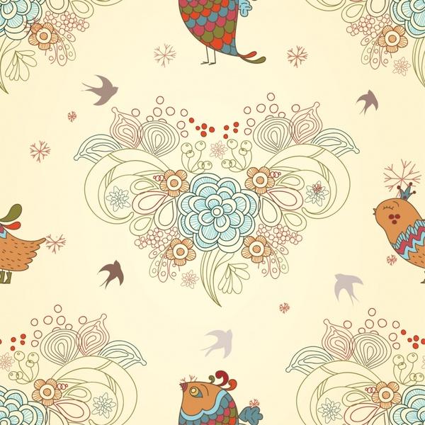 love birds background vector illustration cartoon