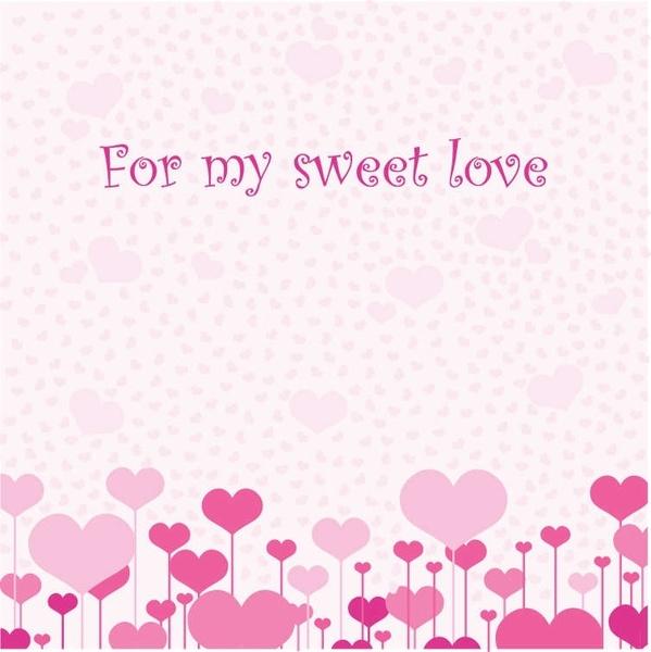 Love Card Vector