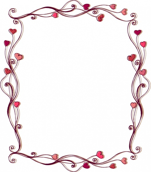 love hearts lace vector