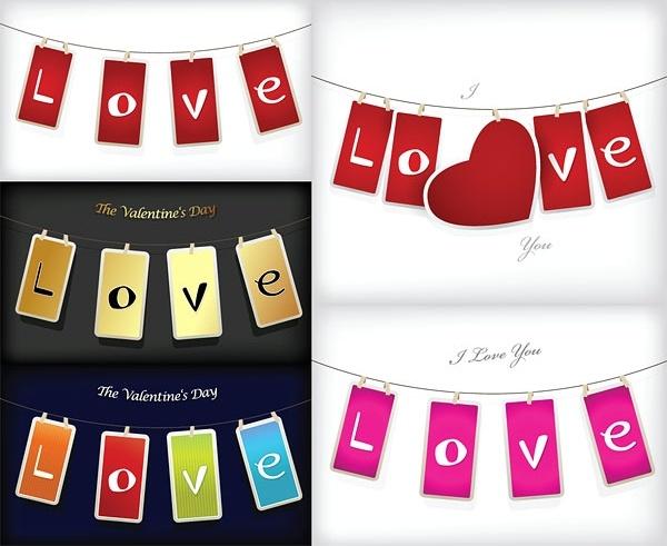 love tag vector