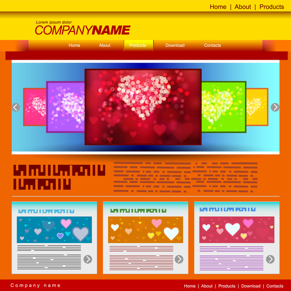 Love website templates Free vector in Adobe Illustrator ai ( .ai ...