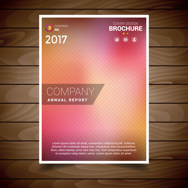 lovely blur brochure design template
