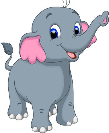 Lovely Cartoon Elephant Vector Free Vector In Encapsulated Postscript Eps Eps Vector Illustration Graphic Art Design Format Format For Free Download 304 94kb