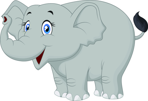 Lovely Cartoon Elephant Vector Free Vector In Encapsulated