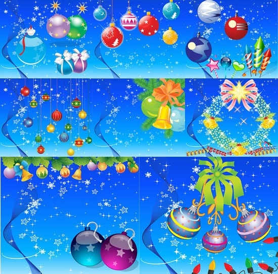 lovely christmas element vector and background
