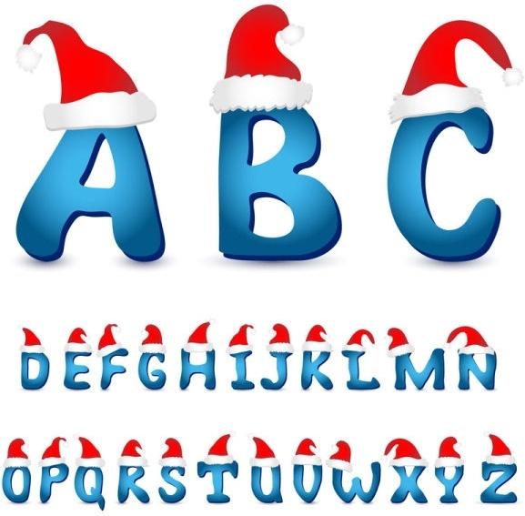 lovely christmas letter 01 vector