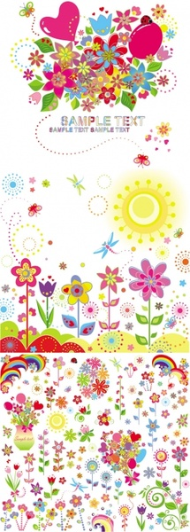 lovely flower children illustrator vector