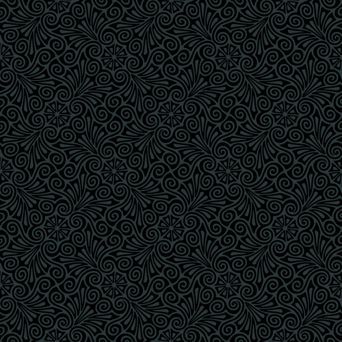 Luxurious Black Damask Patterns Vector Free Vector In Encapsulated