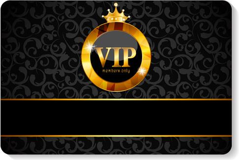 Luxurious vip members cards design vectors Free vector in ...