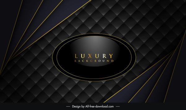 luxury background shiny black design squares lines decor