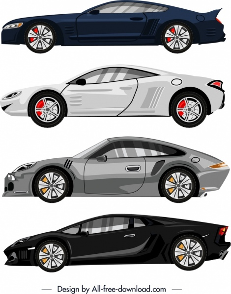 Luxury Car Advertising Background Modern Colored Sketch Free Vector