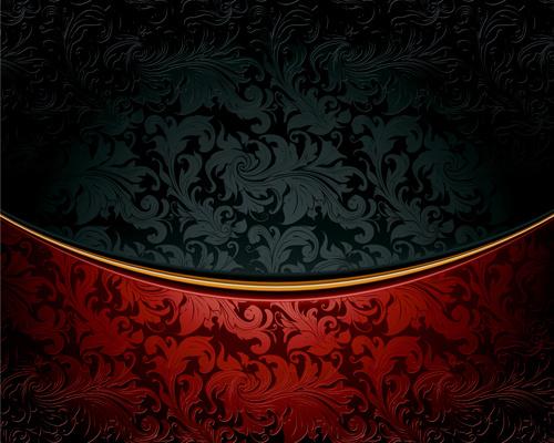 luxury floral pattern background vector set