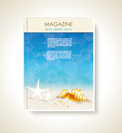 magazine book cover background vector