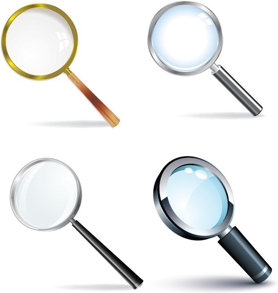 Magnifying Glass Vector Set