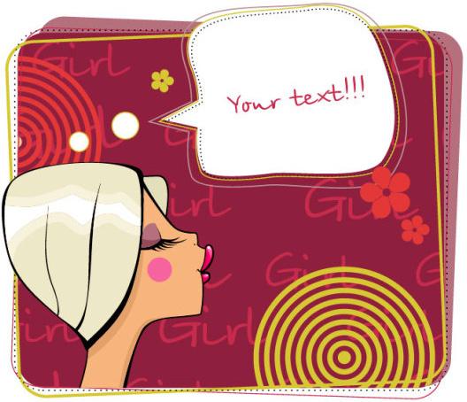 make up girl cartoon illustration free vector