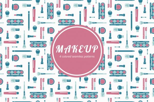 Makeup vector pattern Free vector in Adobe Illustrator ai (  ai