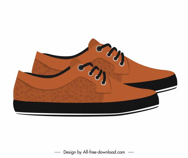 male fashion shoe icon elegant brown leather decor