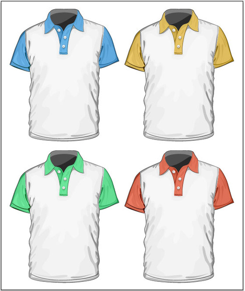 man short sleeve t shirt working outfit vector
