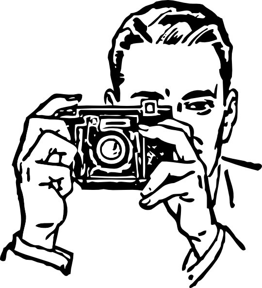 Man With A Camera Clip Art Free Vector In Open Office Drawing Svg