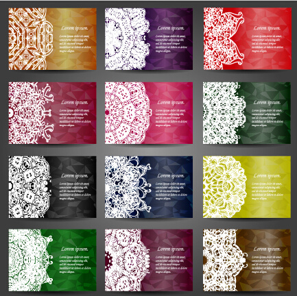 mandalas ornaments floral background vector