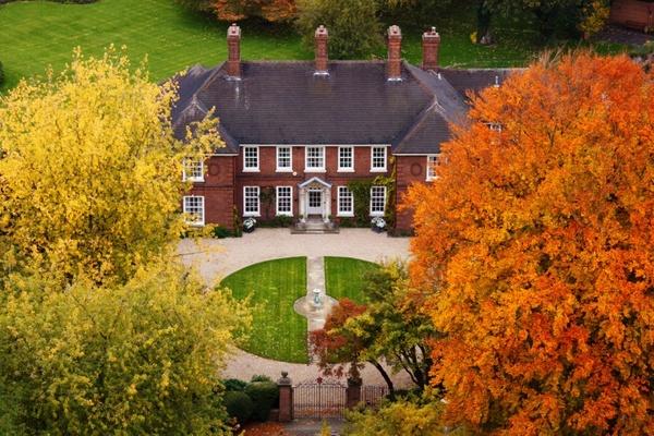 mansion in autumn