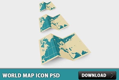 Map icon Free PSD