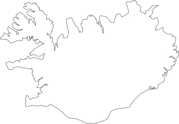 Map Of Iceland clip art Free vector in Open office drawing svg ...
