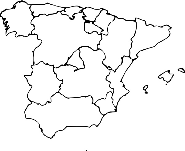 Map Of Spain Drawing.Map Of Spain Clip Art Free Vector In Open Office Drawing Svg Svg