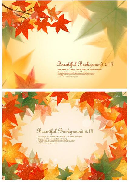 maple leaf background design vector